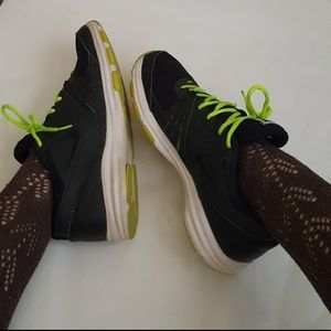 Nike Air 1 TR Lime Green laces Black Sneakers